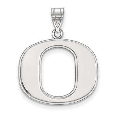 Oregon Ducks Sterling Silver Pendant