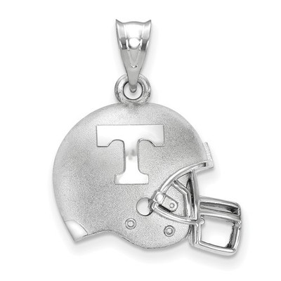 Tennessee Volunteers Sterling Silver 3D Football Helmet Pendant