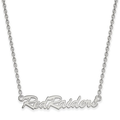 Texas Tech Red Raiders Sterling Silver Necklace