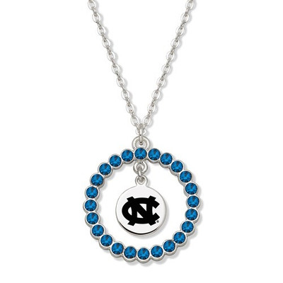 UNC Tar Heels Spirit Crystal Logo Wreath Necklace