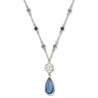 UNC Tar Heels Crystal Logo Necklace