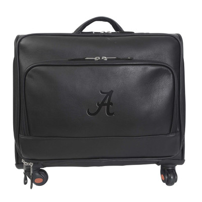 Alabama Crimson Tide Leather Wheeled Overnight Bag