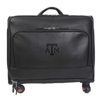 Texas A&M Aggies Leather Wheeled Overnight Bag