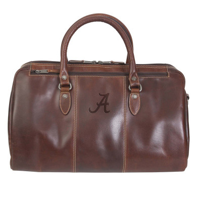 Alabama Crimson Tide Leather Niagara Canyon Duffle Bag