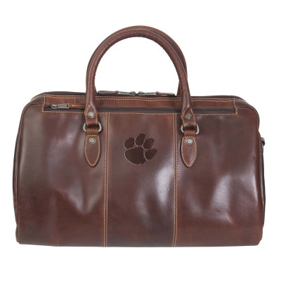 Clemson Tigers Leather Niagara Canyon Duffle Bag
