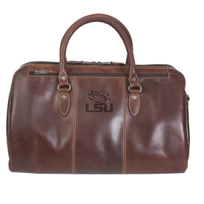 LSU Tigers Leather Niagara Canyon Duffle Bag