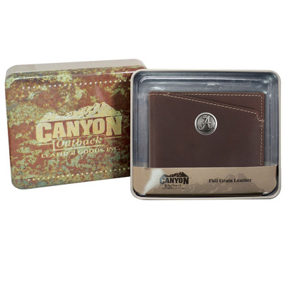 Alabama Crimson Tide Leather Bi Fold Wallet