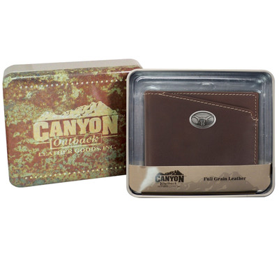 Texas Longhorns Leather Bi Fold Wallet