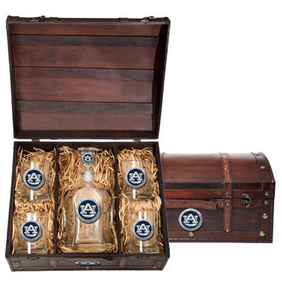 Auburn Tigers Capitol Decanter Chest Set