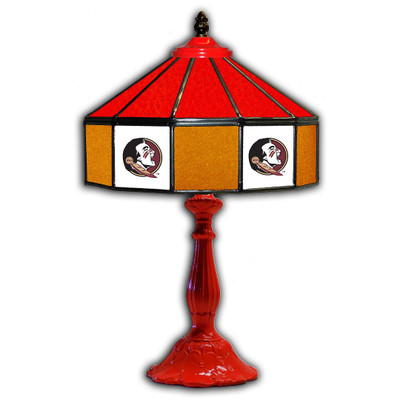 FSU Seminoles 21 in Glass Table Lamp