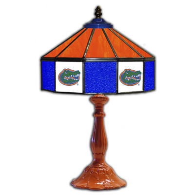 Florida Gators 21 in Glass Table Lamp