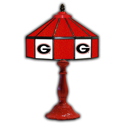 Georgia Bulldogs 21 in Glass Table Lamp