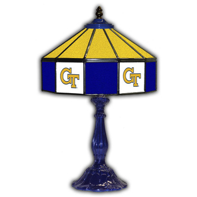 Georgia Tech Yellow Jackets 21 in Glass Table Lamp
