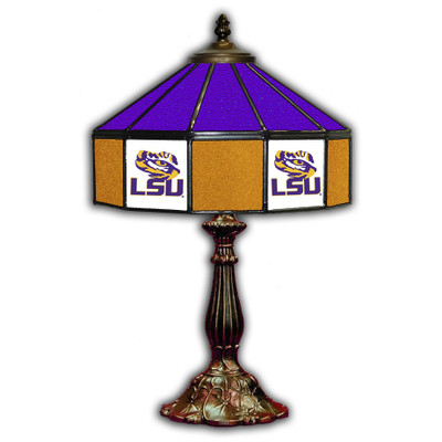 LSU Tigers 21 in Glass Table Lamp