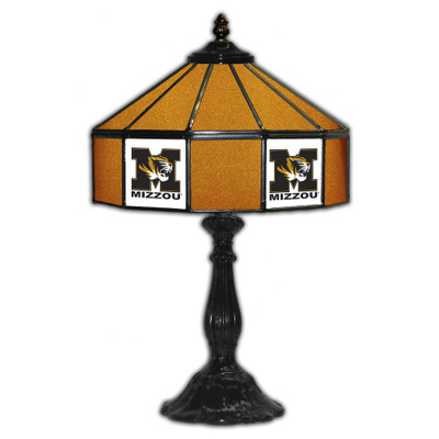 Missouri Tigers 21 in Glass Table Lamp