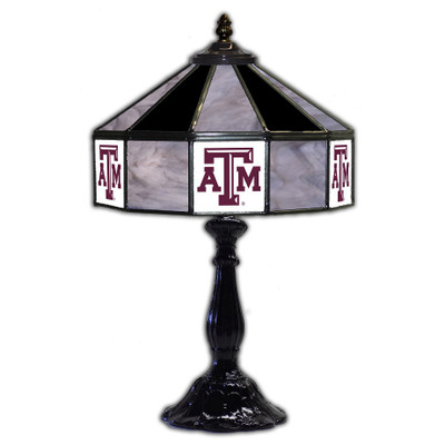 Texas A&M Aggies 21 in Glass Table Lamp