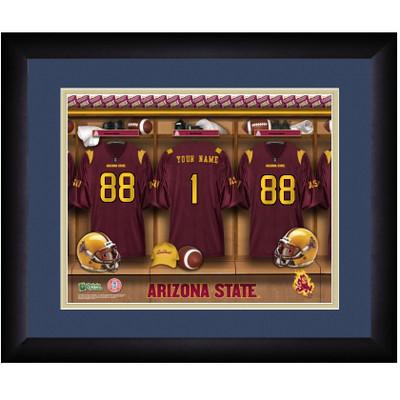 Arizona State Sun Devils Personalized Locker Room Print