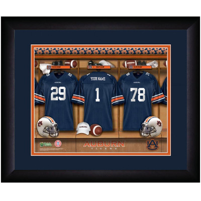 Auburn Tigers Personalized Locker Room Print