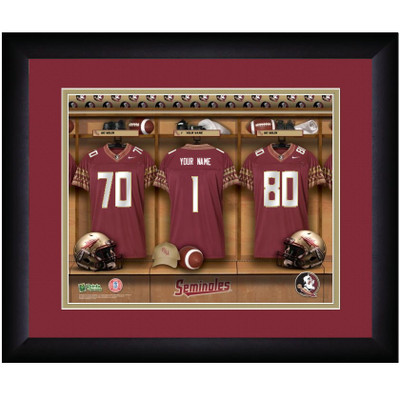 FSU Seminoles Personalized Locker Room Print