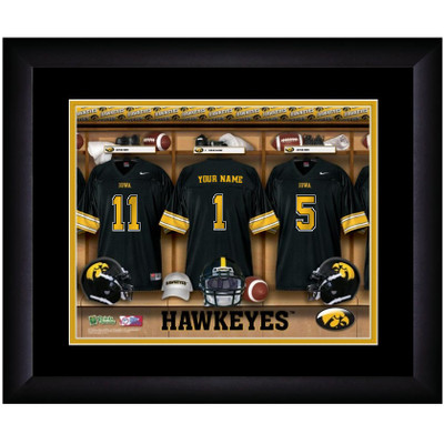 Iowa Hawkeyes Personalized Locker Room Print