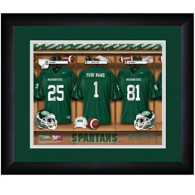 Michigan State Spartans Personalized Locker Room Print