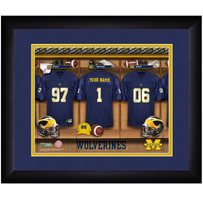 Michigan Wolverines Personalized Locker Room Print