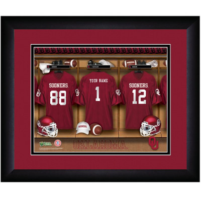Oklahoma Sooners Personalized Locker Room Print