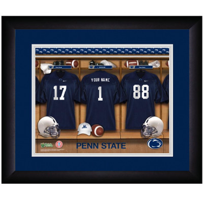 Penn State Nittany Lions Personalized Locker Room Print