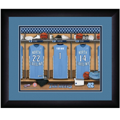 UNC Tar Heels Personalized Locker Room Print