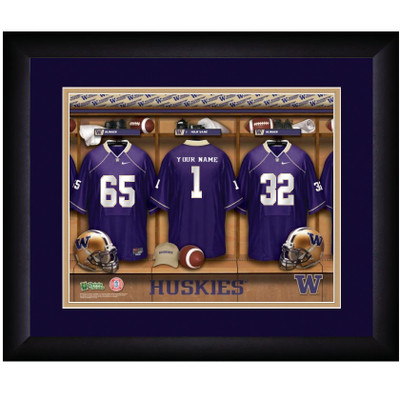 Washington Huskies Personalized Locker Room Print | Get Letter Art | WASHLOCKER