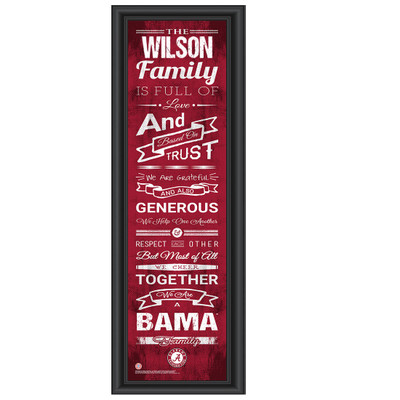 Alabama Crimson Tide Personalized Family Cheer Print