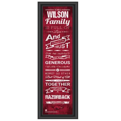 Arkansas Razorbacks Personalized Family Cheer Print