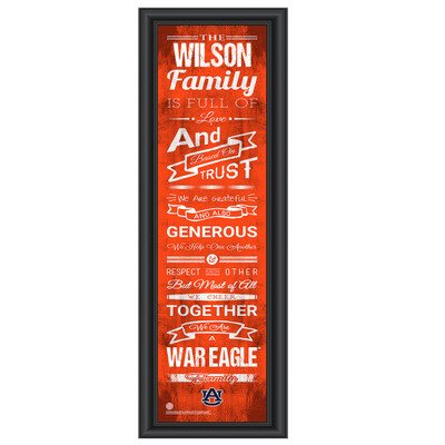 Auburn Tigers Personalized Family Cheer Print
