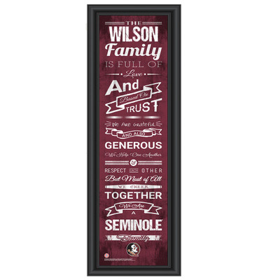 FSU Seminoles Personalized Family Cheer Print