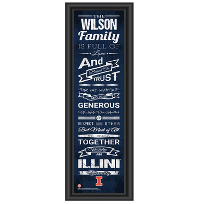 Illinois Fighting Illini Personalized Family Cheer Print