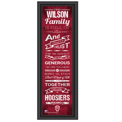 Indiana Hoosiers Personalized Family Cheer Print
