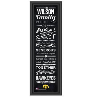 Iowa Hawkeyes Iowa Hawkeyes Personalized Family Cheer Print
