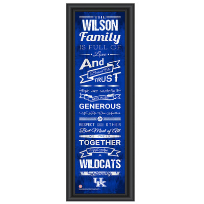Kentucky Wildcats Campus Personalized Family Cheer Print