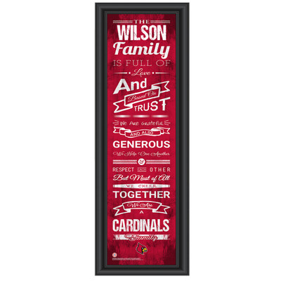 Louisville Cardinals Personalized Family Cheer Print | Get Letter Art | LOUFAM