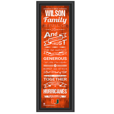 Miami Hurricanes Personalized Family Cheer Print