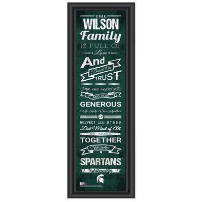 Michigan State Spartans Personalized Family Cheer Print
