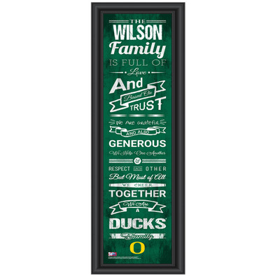 Oregon Ducks Personalized Family Cheer Print