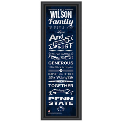 Penn State Nittany Lions Personalized Family Cheer Print