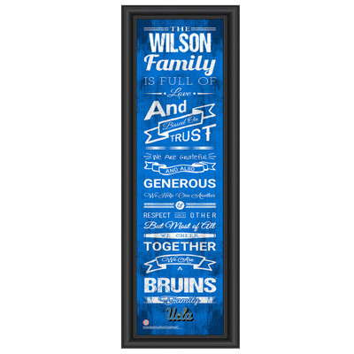UCLA Bruins Personalized Family Cheer Print