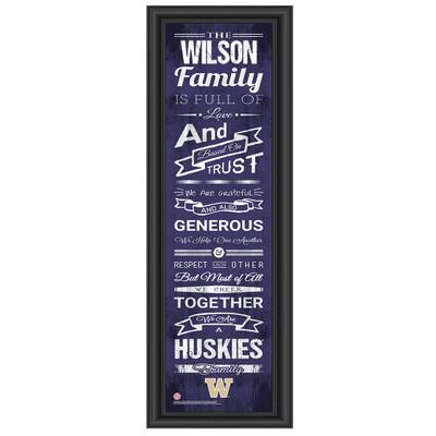 Washington Huskies Personalized Family Cheer Print