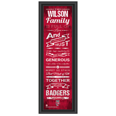 Wisconsin Badgers Personalized Family Cheer Print