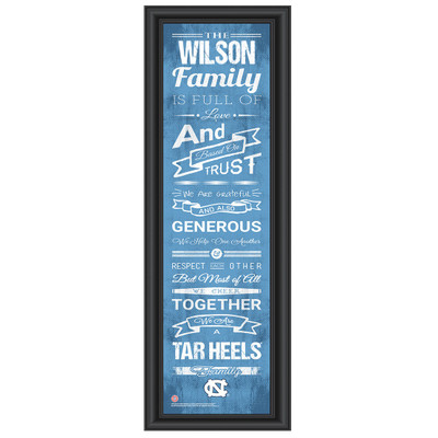 UNC Tar Heels Personalized Family Cheer Print