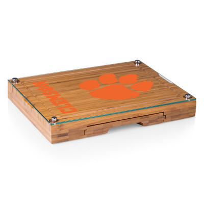 Clemson Tigers Concerto Bamboo Cutting Board | Picnic Time | 919-00-505-104-0