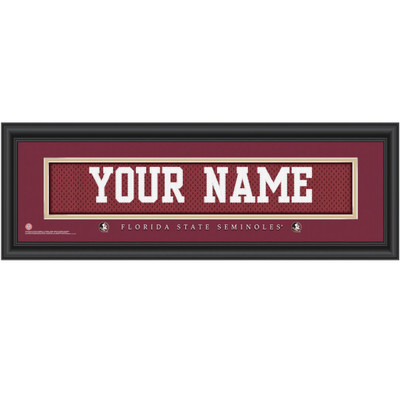 FSU Seminoles Personalized Jersey Stitch Print