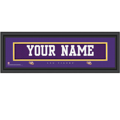 LSU Tigers Campus Personalized Jersey Stitch Print